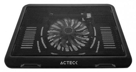 """Acteck Base Enfriadora AC-929080 para Laptop 15"""", con 1 Ventilador 1000RPM Negro"""