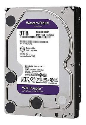 Disco Duro para Videovigilancia Western Digital WD Purple 3.5'', 3TB, SATA III