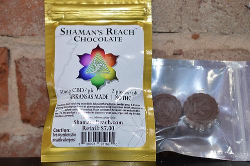 Cannabinoid Chocolates 50mg 2pack