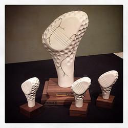 Skulpterade golftrofeer HAGAB
