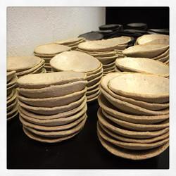 Småkoppar klara till Gunnebos julbord #rustikstil #grovlera #keramik #handgjort #cajo #gunneboslott