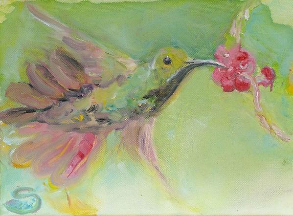 Kolibri, kolibri malerin, ölgemälde, gemälde hamburg, artwork, arts hamburg, humming-bird, artlantico