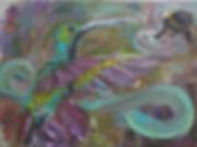 Kolibri, Hummingbird, one world, ölgemälde, gemälde hamburg, ölmalerei, artlantico,