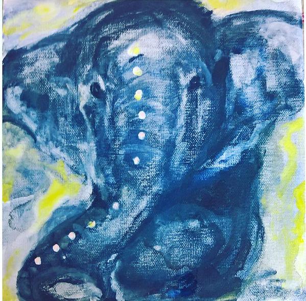 Gemälde, elefant, glück