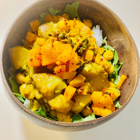 Curry Potato with Golden Beets