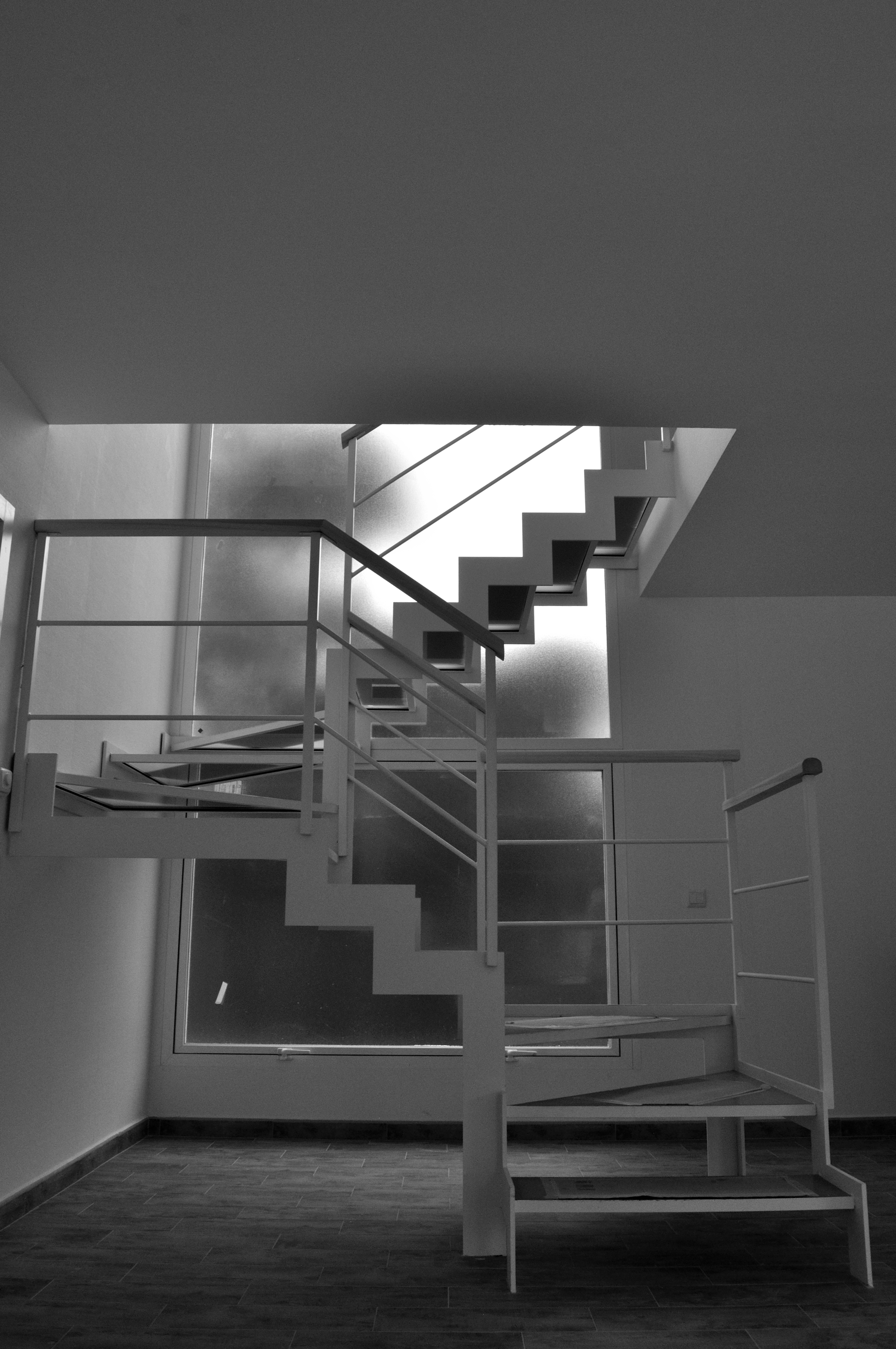 Escalera Acero y Cristal