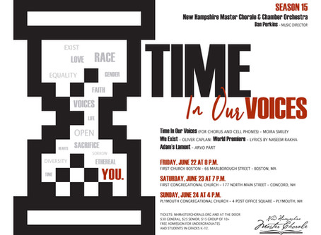 "NH Master Chorale presents ""Time in our Voices"""