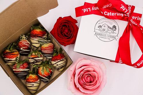 9 Pack of Fresh Chocolate Dipped Strawberries