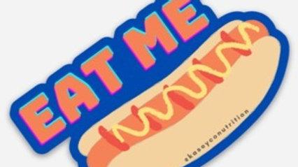 """Eat Me 3""""x3"""" Sticker (Waterproof, Fade Resistant, Heavy Duty)"""