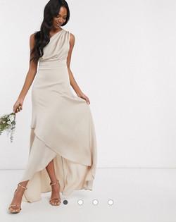zaujímavé šaty Anna v béžovej farbe