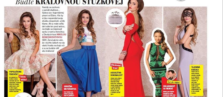 Fotenie s herečkou Nikol Benedikovičovou v našich šatách pre časopis Star