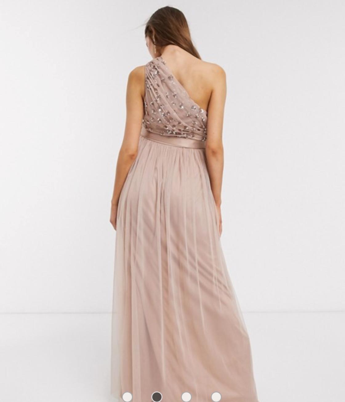 šaty Luisa so strihom na jedno rameno