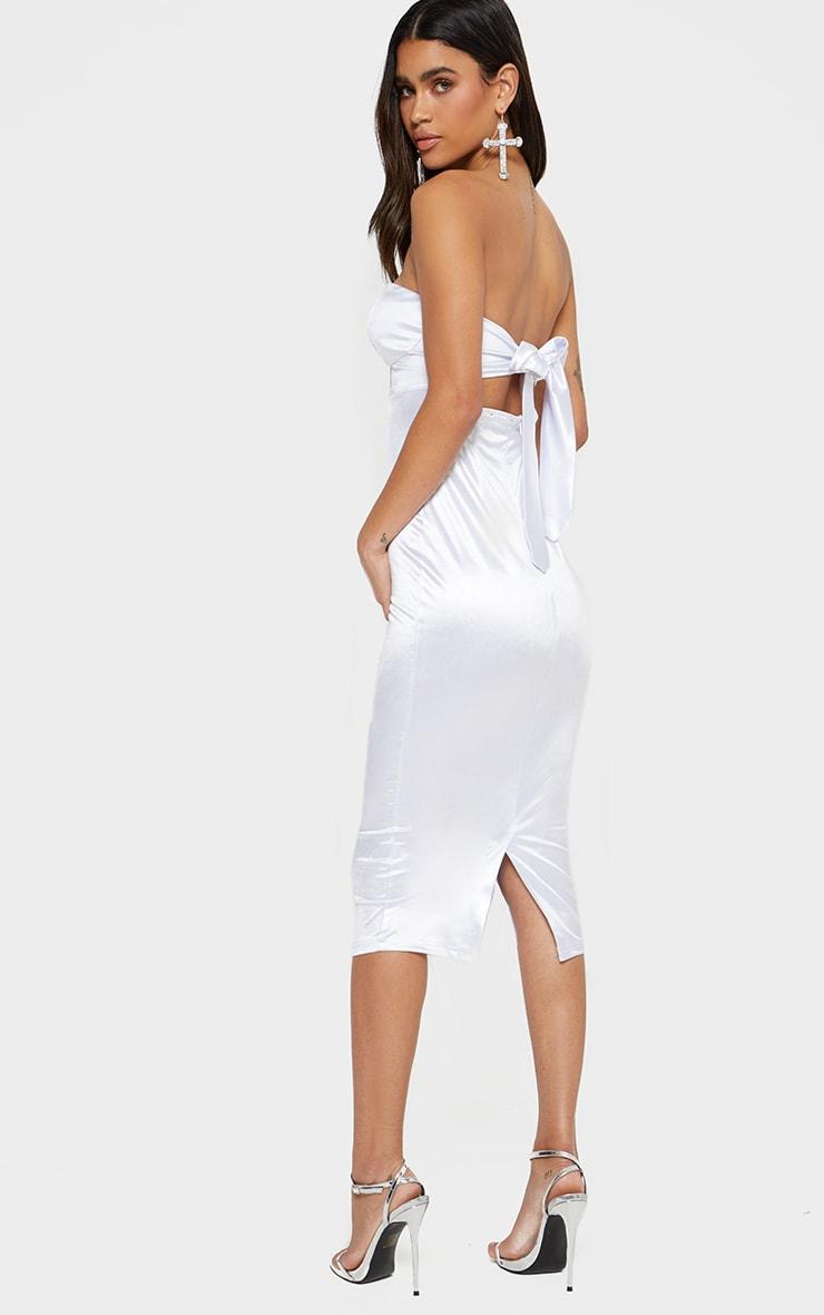 biele šaty pod kolená výpredaj 55€