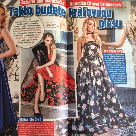 Veronika Cifrová Ostrihoňová ako kráľovná plesu v šatách od nás :)
