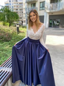 saténová sukňa 65€ midnight blue