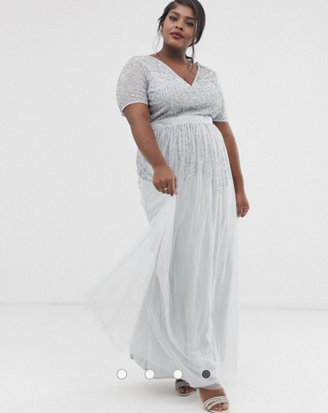 jemné modrosivé šaty Amanda