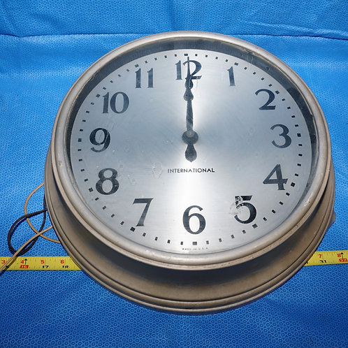 International - I B M Regulating Wall Clock