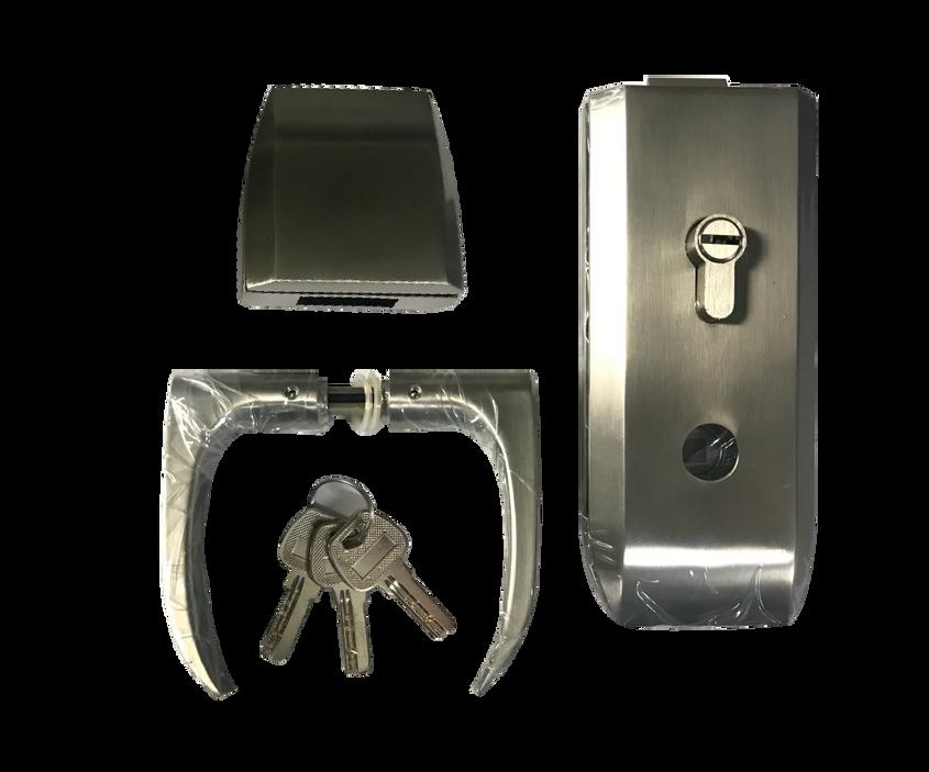 9. Chapa horizontal mariposa x llave con recibidor
