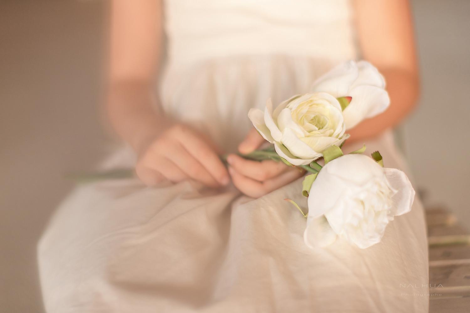 Photo de fleurs blanche
