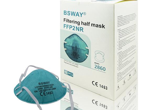 BSWAY® 20 x FFP2 Partikelfilteriende Halbmaske Atemschutz  Cup Form ohne Ventile
