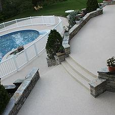 patio de piscine