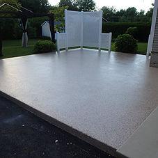 patio de beton