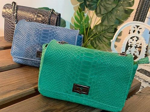Petit sac ELEGANTE Python vert pastel