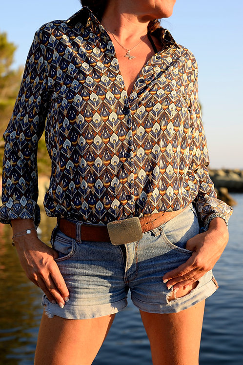chemise bleu recto