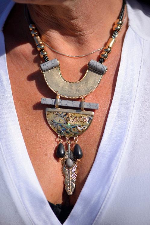 collier inca style indien ras de cou