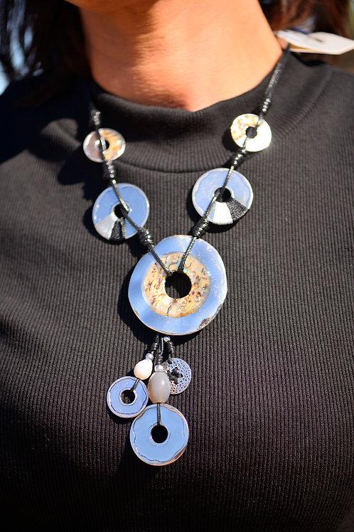 sautoir collier rond métal