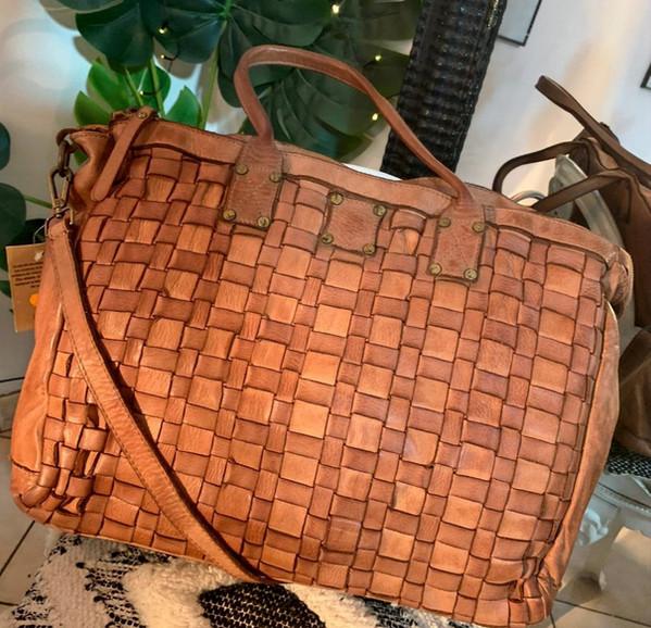 Grand sac en cuir vintage