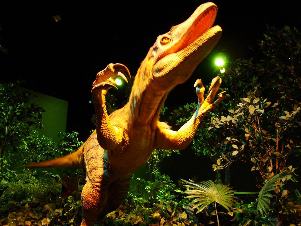 A smaller dino fleeing from T. rex?