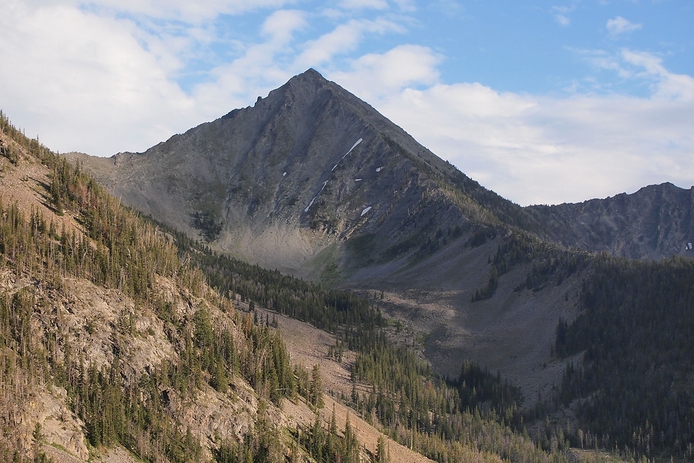 "The real ""Bone Mountain,"" in the Crazy Mountains of Montana"