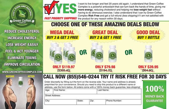Order Form Design for Supplement Brand