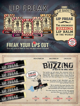 Post Card for Doctor Lip Bang's Lip Freak Buzzing Lip Balm