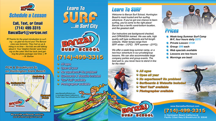 Brochure: Banzai Surf