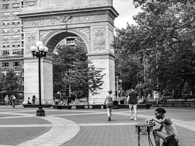 A walk in Washington Square Park