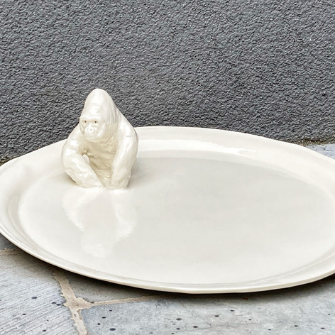 Plateau Gorille Porcelaine