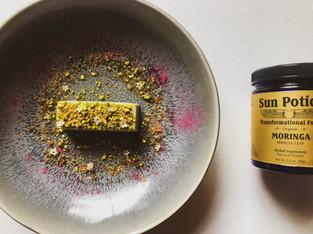 "PLANTFEED// ""SUN POTION Series // Moringa panna cotta W Elderflower syrup.""// by Kelly Mason"
