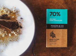 "PLANTFEED// ""Mason & Co series // A Plant based almond & salted caramel slice.""// by Kelly Mason"