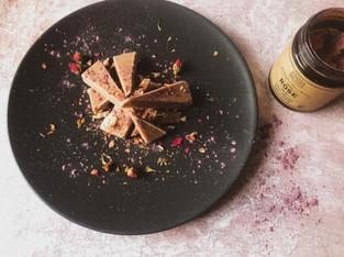 """PLANTFEED// """"ANIMA MUNDI Series // Heart opening rose & coconut plant based fudge.""""//by Kelly Mason"""