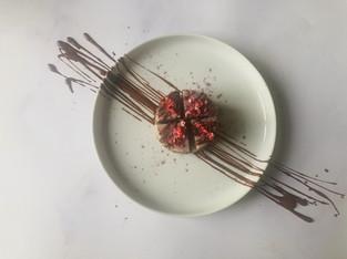 "PLANTFEED// ""ANIMA MUNDI Series // Strawberry & rose cake W hemp & pistachio base.""//by Kelly Mason"