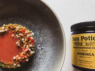 "PLANTFEED// ""SUN POTION Series // Raspberry tart W Powerhouse Moringa.""// by Kelly Mason"