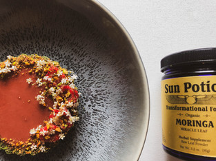 "PLANTFEED// ""SUN POTION Series // Raspberry tart W Powerhouse Moringa.""// by Kelly Mason"