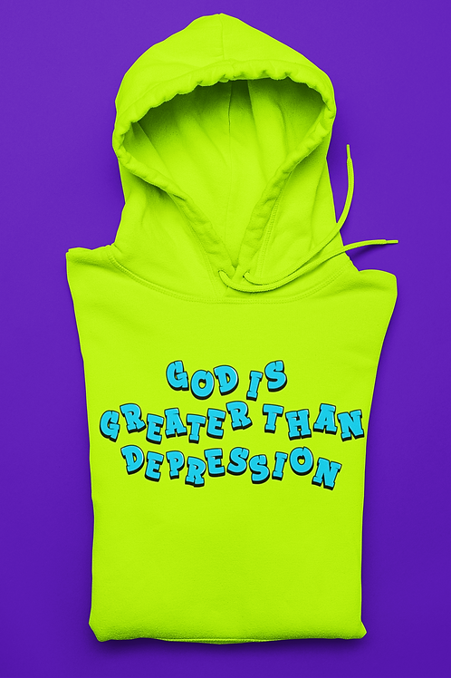 God over depression hoodie
