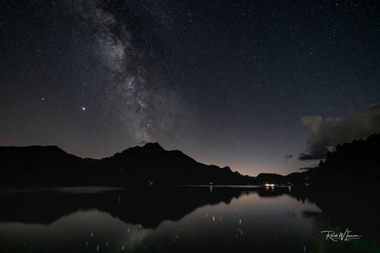 Milkyway am Silsersee mit MW über Piz d