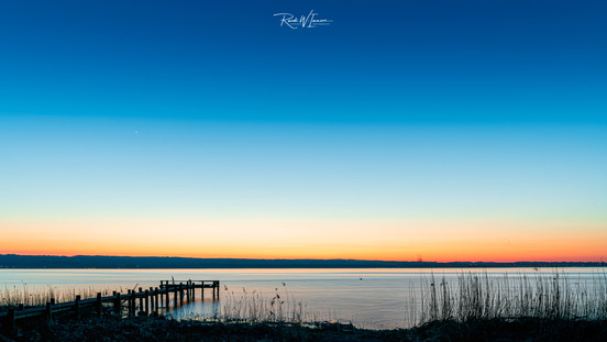 Ammersee Steg bei Herrsching Abendrot to