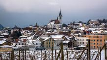 Schwyz Winter Nebel von Sagenmatt mit Ki