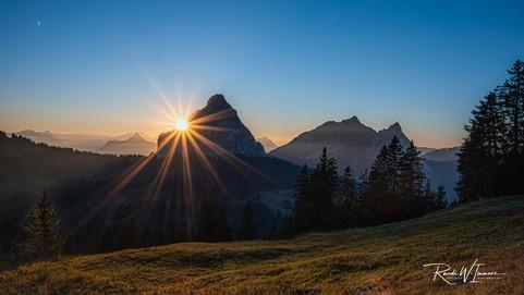 Sonnenuntergang am Mythen