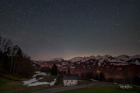 Sternenhimmel über dem Muotathal